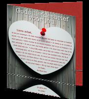 Wonderbaar Christelijke Wenskaart Gods liefdesbrief voor jou CQ-93