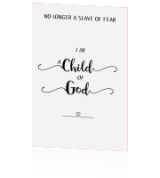 enkele kaart I am a child of God