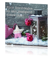 Kerstkaart Rose stilleven