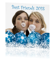 Foto kerstkaart Best Friends