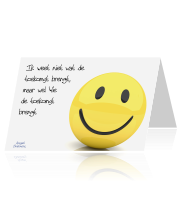 Gospel Onelinerkaart Smiley