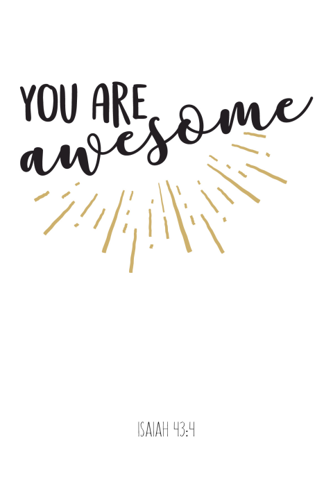 Wenskaart vriendschap You are awesome